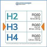 RAVENSBERGER STRUKTURA-MED® 60 | 7-Zonen-HR-Premium-Kaltschaummatratze | H3 RG 60 (80-120 kg) | Made IN Germany - 10 Jahre Garantie | Baumwoll-Doppeltuch-Bezug | 90 x 200 cm - 6