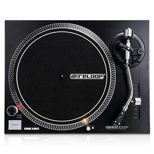 Reloop RP-2000 MK2 - DJ Plattenspieler mit quarzgesteuerten Direktantrieb und Phono-/Lineausgang, schwarzmetallic