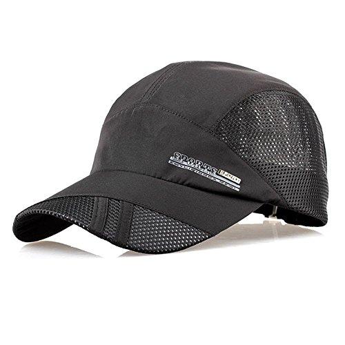TOOGOO(R) Casquette de baseball A la mode pour le sport exterieur d'ete Casquette de visiere de course noir