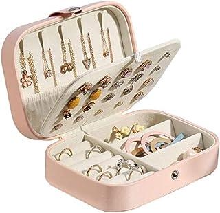frdzsw Jewelry Box,Women Two Layer Jewelry Organizer,Display Storage Case for Earring Ring Necklace Bracelet (Pink)