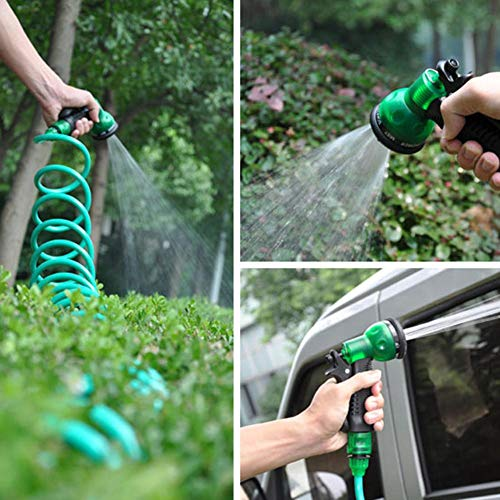 50FT//100FT Watering Pipe Latex Hose Magic Plastic Flexible Expandable Pipe Retractible Watering Hose High Density Woven Fabric for Garden Backyard
