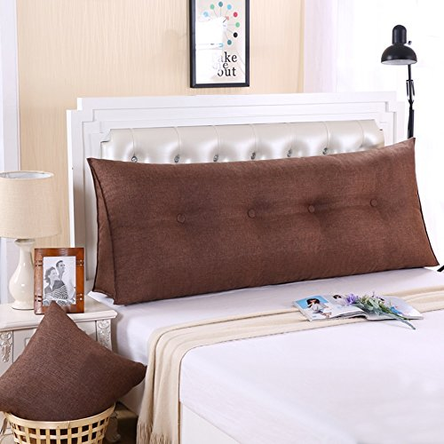 ZWL Coussin de lit, grand Dossier Grand coussin Coussin de lit Canapé Protéger le cou Protéger l'oreiller de taille Long 90-120cm mode z (Couleur : #8, taille : 120 * 20 * 50cm)