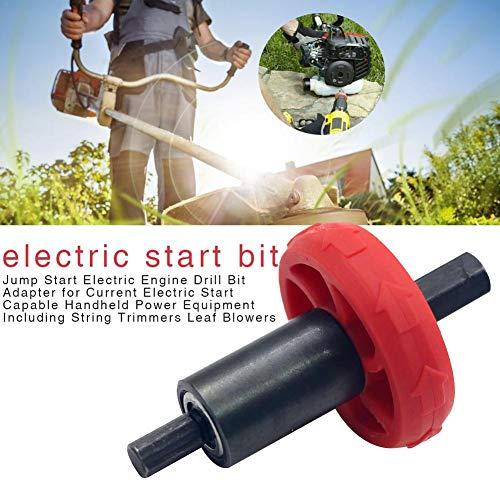 Starthilfe Elektromotor Bohrer Adapter, Handheld Power Equipment Startadapter für Rasentrimmer Rasenmäher Laubbläser Grubber