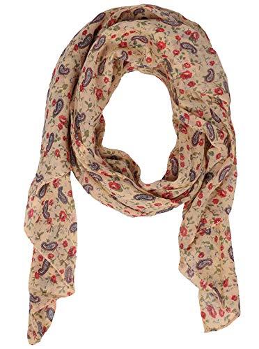 Zwillingsherz Seiden-Tuch - Hochwertiger Schal für Damen Mädchen - Halstuch - Umschlagstuch - Paisley - Blumen - weicher Schlauchschal für Sommer Herbst und Winter von Cashmere Dreams or