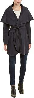 Women's Marla Lightweight Double face Wool Wrap Coat Oversized Collar Sea Grey