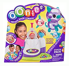 Use the Oonies Inflator to turn the pellets into magical air filled balls of fun! Oonies magically stick to each other! - No glue, no water, no mess! The Oonies Starter Pack has everything you need to make awesome Oonies! With enough pellets to make ...