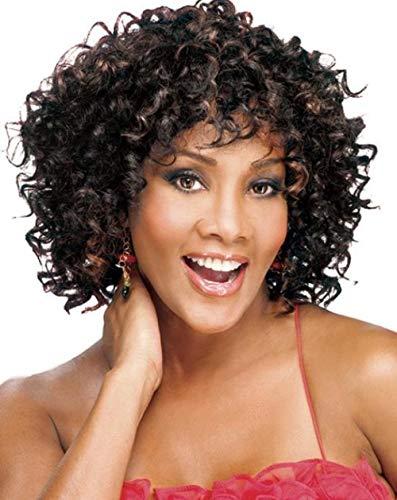 SEXYY Sexy Cheveux super moelleux de personnalité de 15 pouces Perruques Bob Bigoudis Bigoudis Cheveux Perruques pour femme noire,Afro résistant à la chaleur Perruque pleine crépée