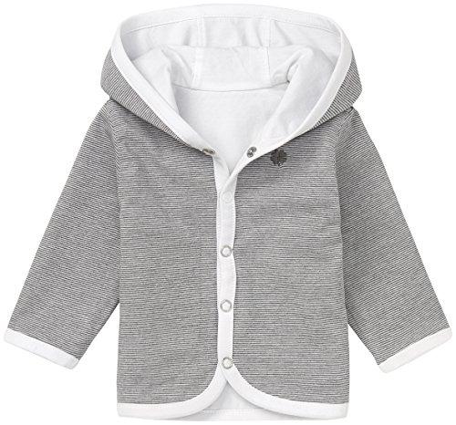 Noppies Unisex - Baby Strickjacke U Cardigan Jersey Rev Hay, Einfarbig, Gr. Neugeborene (Herstellergröße: 56), Weiß