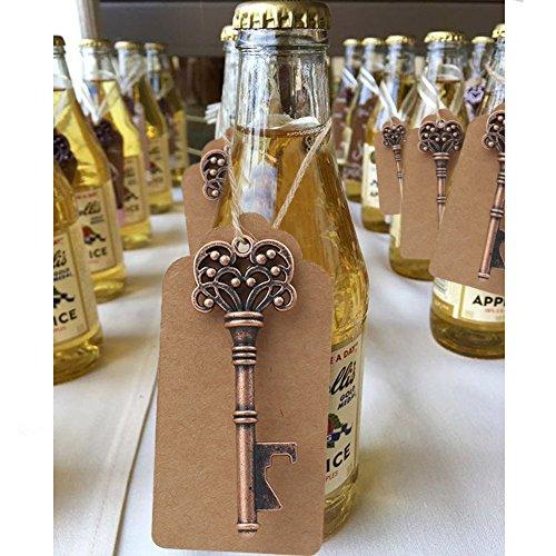 Aytai 50 Pack Hochzeits-Bevorzugungs-Skeleton Schlüsselflaschen-Öffner mit Umbau-Karten für Partei-rustikale Dekoration (Krone: 3 Zoll)