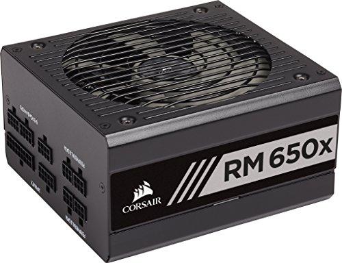 Corsair RM650x Alimentatore PC, Completamente Modulare, 80 Plus Gold, 650 Watt, EU, Serie RMX, Nero