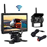 HD Backup Camera Kit - 12V 24V 7In Security Monitor with Wireless Rear