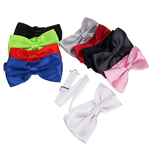 TOOGOO(R) Noeud papillon Lot de 10pcs Noeud Papillon de Smoking Bowtie pour Homme