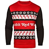 NHL Detroit Red Wings One Too Many Light Up Sweater, Small