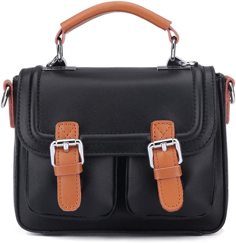 PU-Lederhandtasche,Kontrastfarbige PU-Lederhandtasche,Kontrastfarbige PU-Lederhandtasche,Kontrastfarbige Retro-Tasche Schultertasche,schwarz B07MH1QM2R  Erste Gruppe von Kunden 956ccc