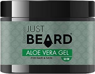 JUSTBEARD Aloe Vera Gel For Hair, Face & Beard (50 gm) | Aloe Vera Hair Gel |100% Natural Aloe Vera Hair Gel For Men