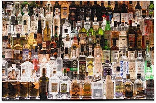 Jard-Baby Jigsaw Puzzle 1000 Pcs Various Whisky Bottles Puzzle Madera Jigsaw Rompecabezas,Classic Educational