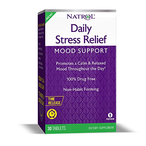 Natrol Daily Stress Relief Time Released 100mg Tablets, 30Count