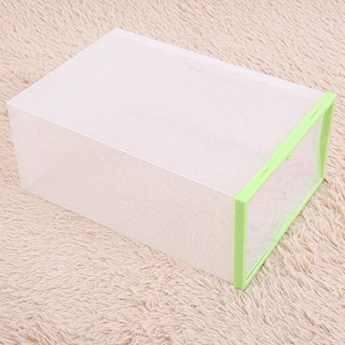 Omabeta Schuhablagebox Schuhkartonablage mit Tür mit seitlich öffnender Tür(Green)