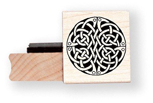 Celtic Spiral Rubber Stamp - BR005E