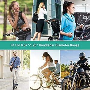 """Cocoda Soporte Movil Bicicleta Desmontable, 360° Rotación Soporte Movil Moto, Acero Inoxidable Anti Vibración Soporte Movil Bici Compatible con iPhone SE/11, Samsung S20 Ultra y Otro 4.5-7.2"""" Móvil"""