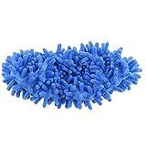 Bbye Multifunktionale Chenillefaser Waschbare Staubschuhe Hausschuhe Reinigung Schuhe Lazy Mop Schuhhaus Reinigungsabdeckung Schuhzehe BlauEinheitsgröße