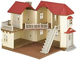 Beech wood hall is the ideal family home for Sylvanians Two working lights and opens up to reveal five rooms Walnut squirrel family live in this house It can be connected with cosy cottage starter home and many other Sylvanian buildings Suitable for ...