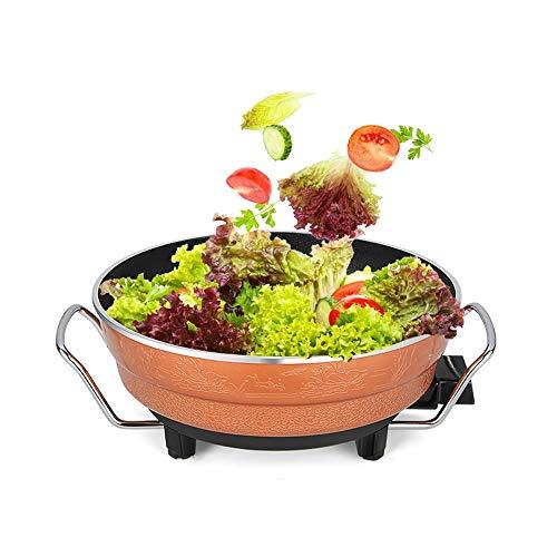 Place Multi fornuis – elektrische pan met glazen deksel, anti-aanbaklaag en Cool Touch handgrepen – 1200 W (oranje)