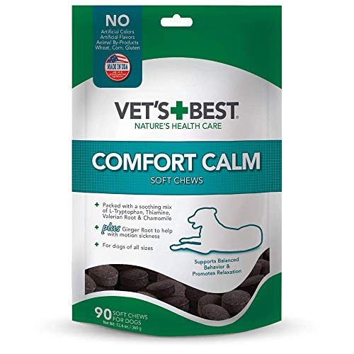 Vet's Best Comfort Calm Calming Soft Chews Dog Supplements |...