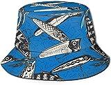 Unisex Animales exóticos del zoológico Sombrero de Cubo de Viaje Gorra de Pescador de Verano Sombrero para el Sol-señuelos de Pesca