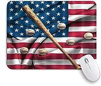 マウスパッド アメリカののヴィンテージとアメリカのバットアートプリントスポーツテーマ ゲーミング オフィス おしゃれ がい りめゴム ゲーミングなど ノートブックコンピュータマウスマット