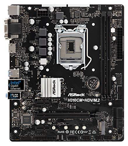 ASRock Intel H310Chip with Micro ATX Motherboard H310cm–Hdv/M. 2, H310CM-HDV/M.2