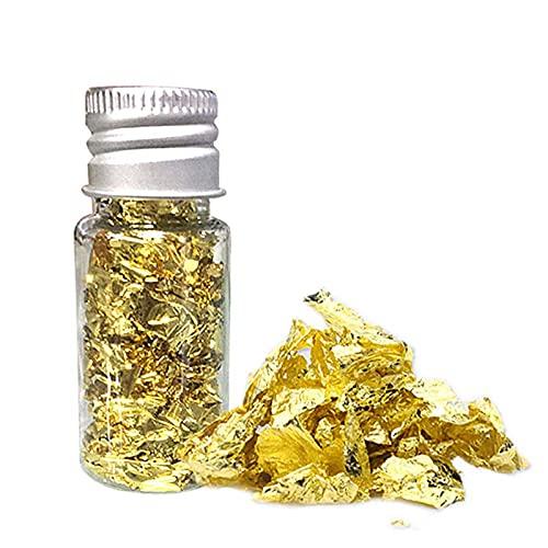 Lámina de oro comestible hojuelas de oro comestibles, hojuelas de oro de 24 quilates, papel de aluminio para decoración de alimentos comestibles, mousse pasteles repostería decoración