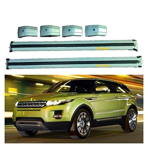 XIAOZHIWEN Barras Cruzadas de automóviles Cross Barras Techo Rack Rack Equipaje Carpiador de Carga Titular de Portador para Land Rover- Range Rover Evoque 2020 2021 (Color : All Silver)
