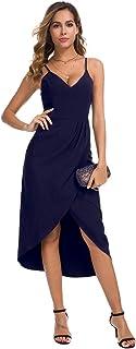 JMSHIHUA V Neck Backless Maxi Dress Sexy Sleeveless Spaghetti Straps Cocktail Dresses Elegant Party Long Dresses