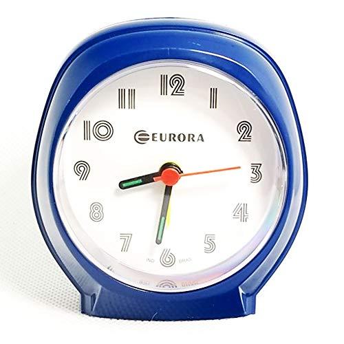 Relógio Despertador Quartz Azul Tradicional Eurora 2696-11