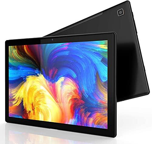 Android Tablet 10 Inch, 1080p Full HD Display, 1920x1200 IPS Touchscreen, Octa-Core Processor, 4GB RAM, 64GB Storage, 128GB Expand, 5G/2.4G WiFi, 8MP+2MP Camera, GPS, Bluetooth 5.0, FM, Metal Body