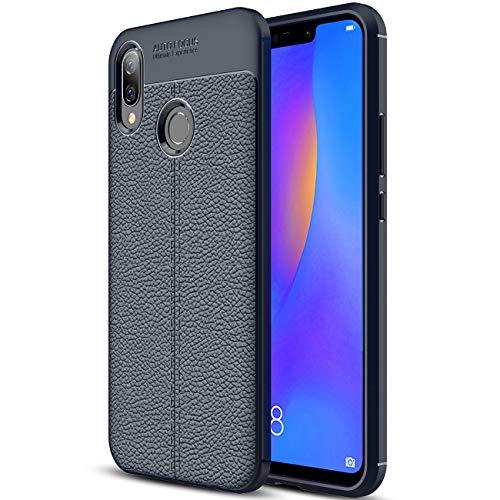 Capa para Huawei Nova 3i, capa de couro sintético para Huawei Nova 3i, capa macia antiderrapante de TPU para Huawei Nova 3i de 6,3 polegadas