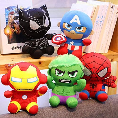 qwermz Weiches Spielzeug, 5 Stück Avengers Spider-Man Plüschtier Iron Man Plüschtier Weihnachtsgeburtstagsgeschenk Für Kinder 20cm