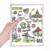 春の自由のホワイトハウスの米国の落書き 硬質プラスチックルーズリーフノートノート