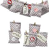 Frau WUNDERVoll® DIY Adventskalender zum Befüllen Bescherung: Set Punkt 157, Papiertueten flach...