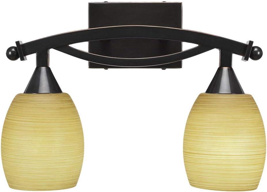 Toltec Lighting 172-BC-625 Bow - Max 52% OFF Bath Bar New sales Light Two