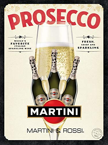 niet Prosecco Martini Tin Wall Sign Metalen Retro Poster Iron Warning Signs Vintage Opknoping Art Plaque Yard Garden Cafe Bar Pub Openbaar Gift 8X12 Inch