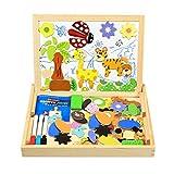 InnooBaby Magnetisches Holzpuzzle, 100 Stück Doppelseitige Holzpuzzle, Magnetisches Holzspielzeug,...