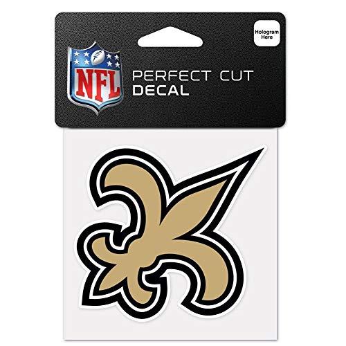 NFL New Orleans Saints 63056011 Perfect Cut Color Decal, 10,2 x 10,2 cm, Schwarz
