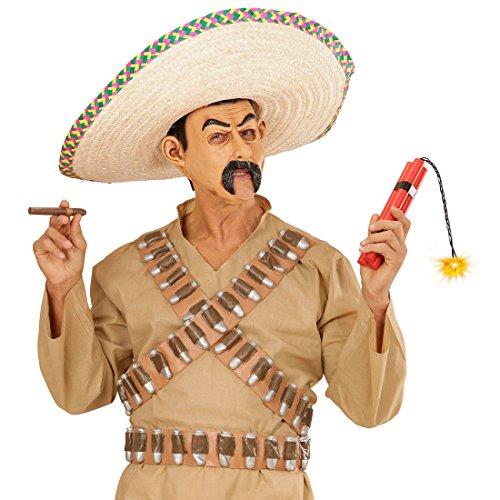 Dinamita de luz Falsa Bomba de plstico Cartucho de Dinamita Vaquero Bancos explosivoshasta Mxico Bandit Polvo Accesorio de Disfraces de Carnaval de Accesorios para Disfraz de Mexicano
