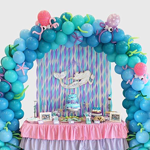 MMTX Balloon Arch Kit Bleu, 133 Pcs Latex Balloon Garland Kit avec Outil de Nouage Décorations De Fête d'anniversaire Ballon pour Garçon Baby Shower Fête De Mariage