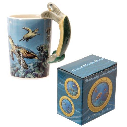 Puckator SMUG42 Kaffeebecher Unterwasserwelt, 8,5x12x13,5cm