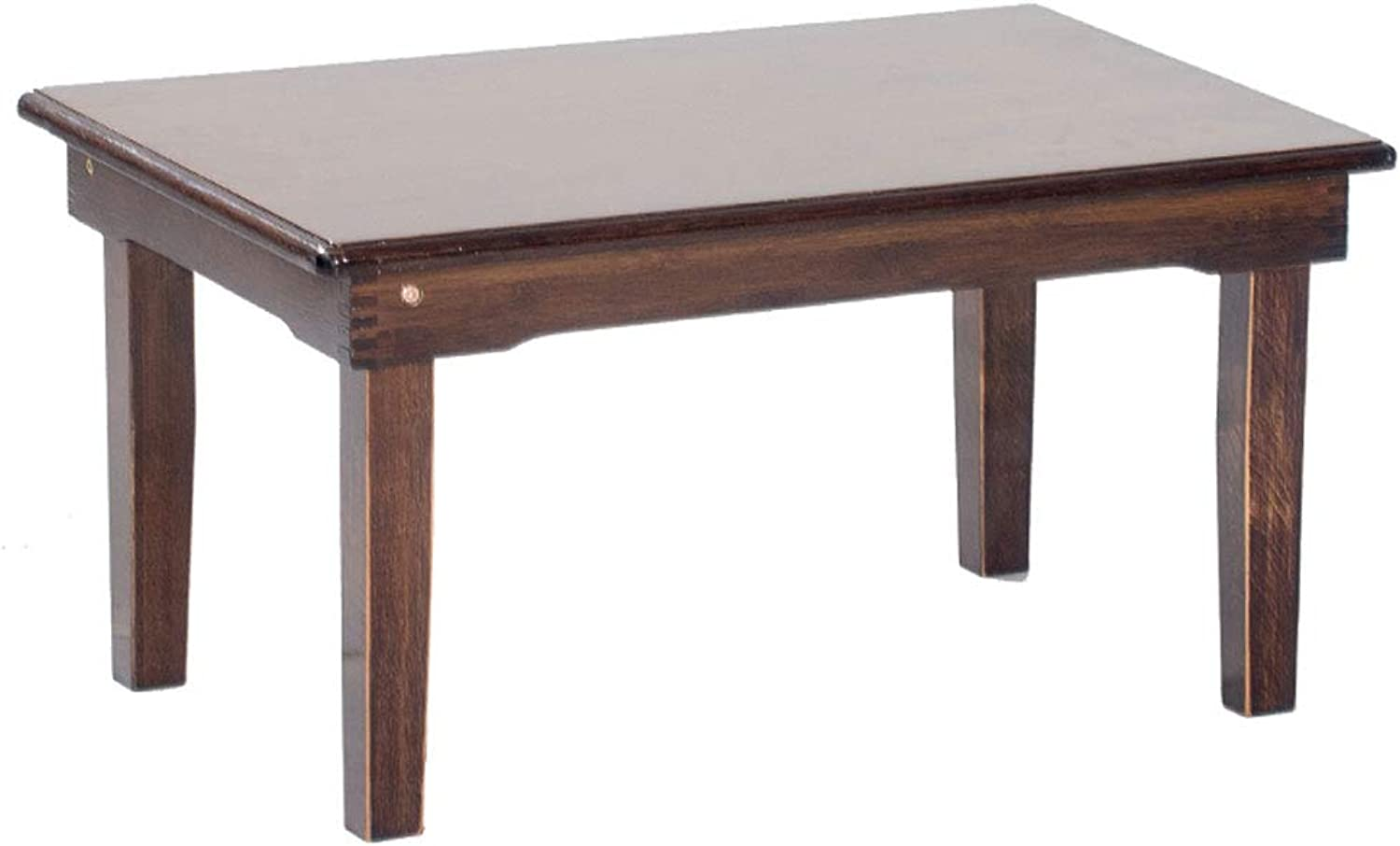 NJ Folding Table- Home Retro Folding Table, Living Room Bedroom Small Table Student Study Table (color   Brown, Size   60x40x25cm)