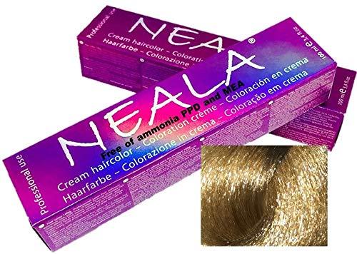 Professionelle haarfarbe ammoniakfrei OHNE AMMONIA und frei von PPD und MEA -10- Hell-lichtblond - NEALA 100ml.