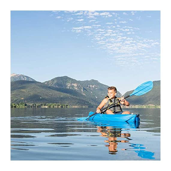 Lifetime Youth Wave Kayak (Paddle Included), Blue, 6' 7 Ergonomic Cockpit Design Enhances Balance and Motor Skills Molded finger handles on each side of the kayak Reverse chine for enhanced stability with swim-up step